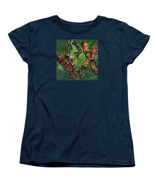 Xx Chromosomes Microbiology Landscapes Series Women's T-Shirt (Standard Cut) by Emily McLaughlin