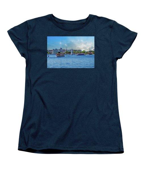 Yacht And Beach Club Walt Disney World Women's T-Shirt (Standard Cut) by Thomas Woolworth
