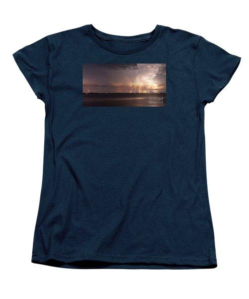 Yacht Club Nights Women's T-Shirt (Standard Cut) by Quinn Sedam