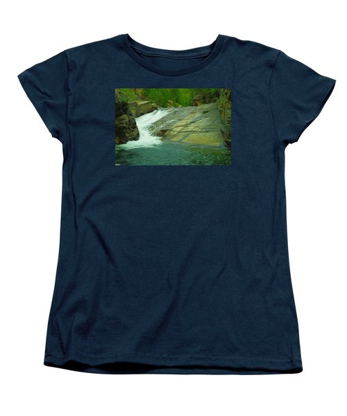 Yak Falls   Women's T-Shirt (Standard Cut) by Jeff Swan