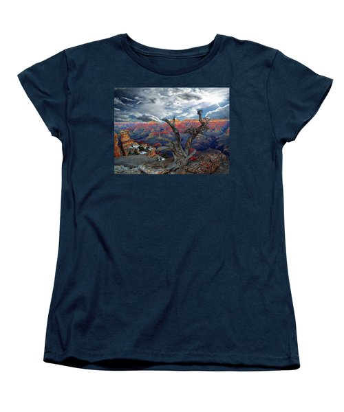 Yaki Point Grand Canyon Women's T-Shirt (Standard Cut) by Anthony Dezenzio