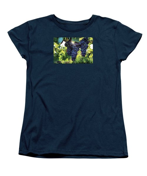 Women's T-Shirt (Standard Cut) featuring the photograph Yakima Valley Grapes by Lynn Hopwood