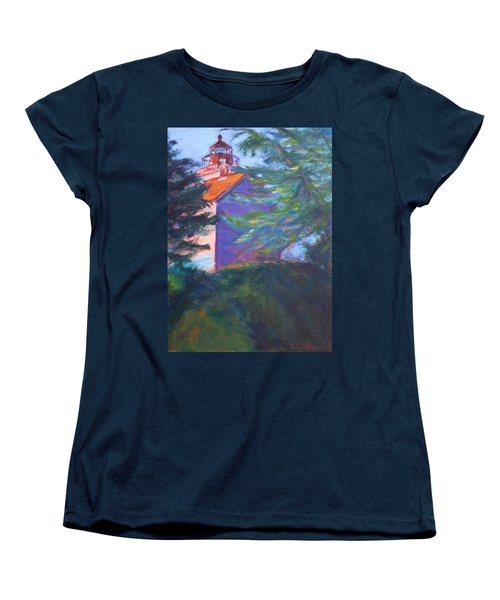 Yaquina Bay Lighthouse  Women's T-Shirt (Standard Cut) by Quin Sweetman