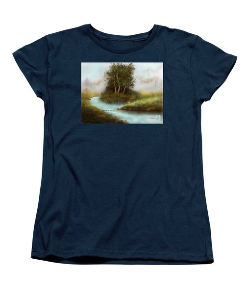 Women's T-Shirt (Standard Cut) featuring the painting Yearling by Sena Wilson