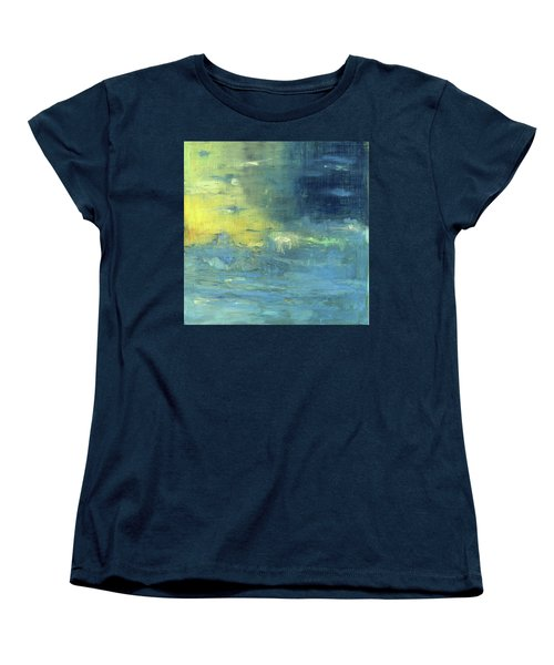 Women's T-Shirt (Standard Cut) featuring the painting Yearning Tides by Michal Mitak Mahgerefteh