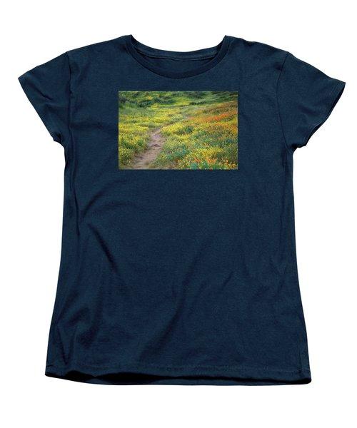 Yellow And Orange Wildflowers Along Trail Near Diamond Lake Women's T-Shirt (Standard Cut) by Jetson Nguyen
