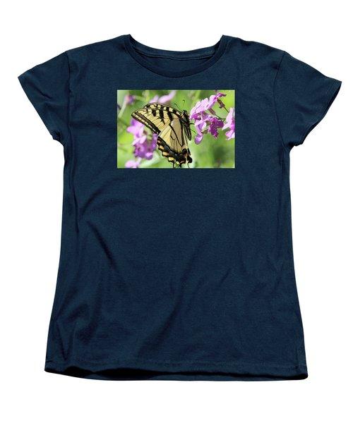 Yellow Butterfly Women's T-Shirt (Standard Cut) by David Stasiak