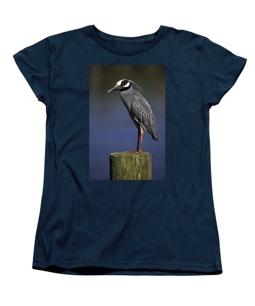 Women's T-Shirt (Standard Cut) featuring the photograph Yellow-crowned Night Heron by Sally Weigand