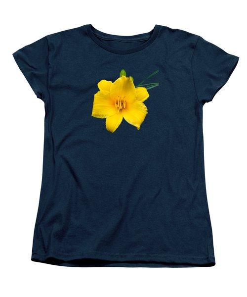 Yellow Daylily Flower Women's T-Shirt (Standard Cut) by Christina Rollo