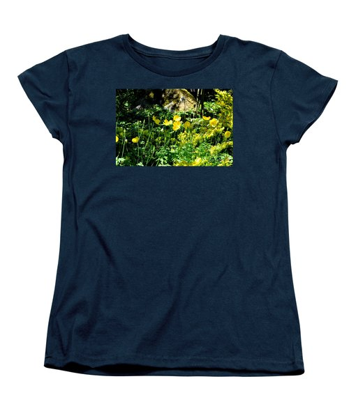 Women's T-Shirt (Standard Cut) featuring the photograph Yellow Flowers Bathing In The Sun by Tanya Searcy