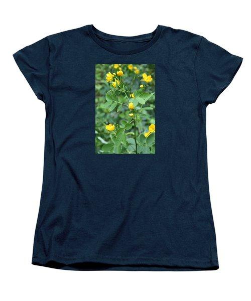 Yellow Flowers Women's T-Shirt (Standard Cut) by Karen Nicholson