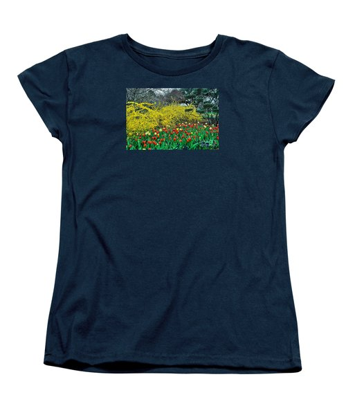 Women's T-Shirt (Standard Cut) featuring the photograph Yellow Forsythia by Diana Mary Sharpton