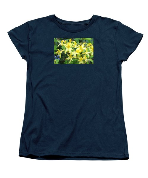 Women's T-Shirt (Standard Cut) featuring the photograph Yellow Rhododendron by Carla Parris