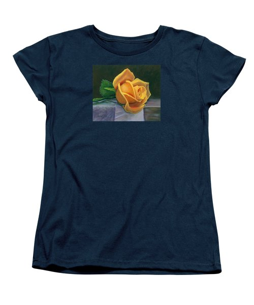 Women's T-Shirt (Standard Cut) featuring the painting Yellow Rose by Janet King