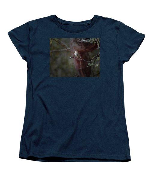 Yellow-rumped Warbler At Water Spout Women's T-Shirt (Standard Cut)