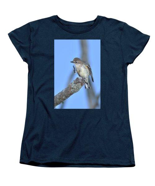 Yellow-rumped Warbler Itch Women's T-Shirt (Standard Cut) by Alan Lenk