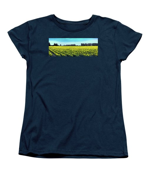 Yellow Tulip Fields Women's T-Shirt (Standard Cut) by David Patterson
