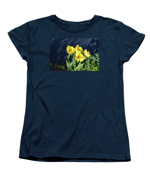 Women's T-Shirt (Standard Cut) featuring the photograph Yellow Tulips by Kathleen Stephens