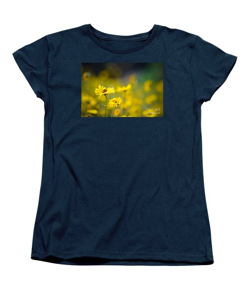 Women's T-Shirt (Standard Cut) featuring the photograph Yellow Wild Flowers by Kelly Wade