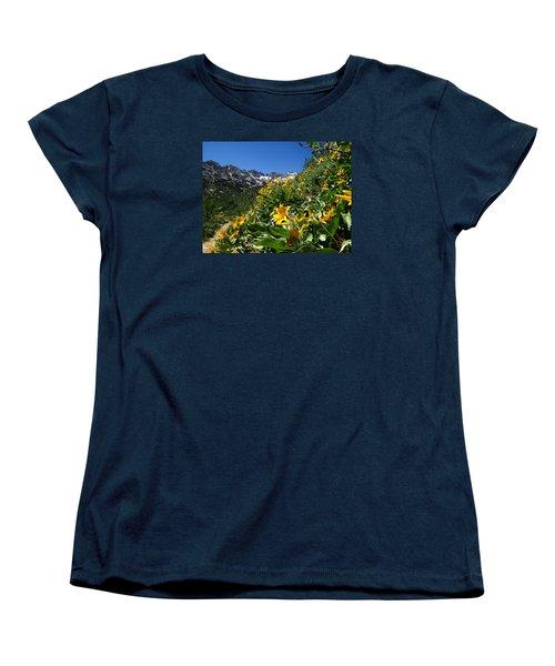 Yellow Wildflowers Women's T-Shirt (Standard Cut) by Alan Socolik
