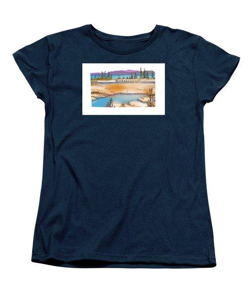 Yellowstone Women's T-Shirt (Standard Cut) by Kathryn Launey