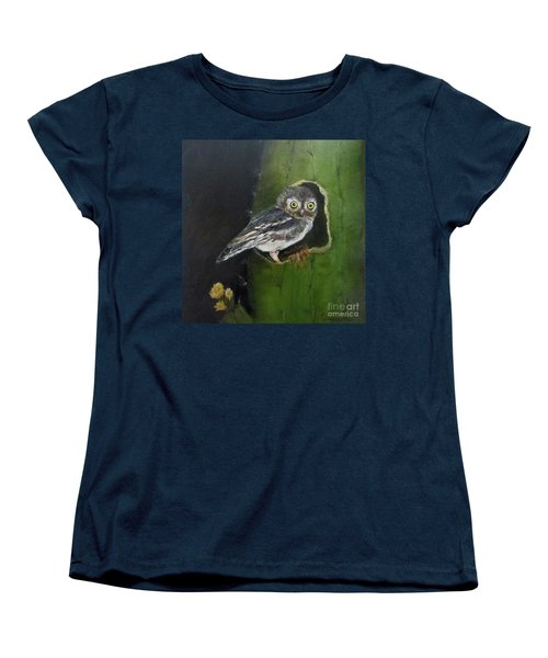 Women's T-Shirt (Standard Cut) featuring the painting You Caught Me by Roseann Gilmore