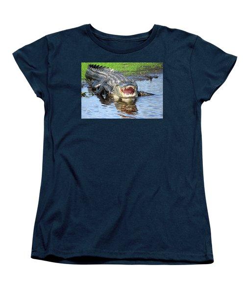 You May Think I'm Smiling Women's T-Shirt (Standard Cut) by Rosalie Scanlon