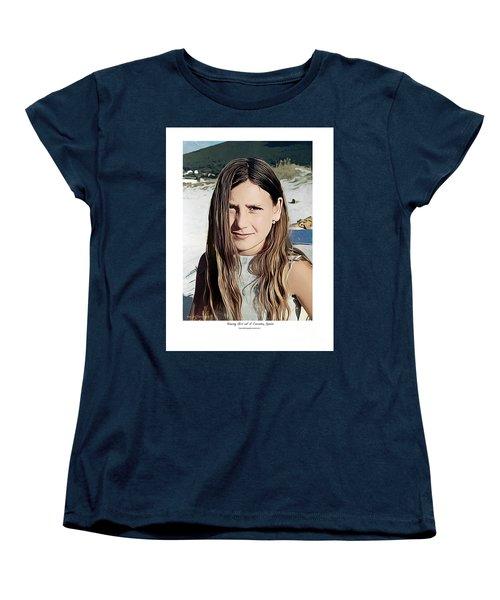 Young Girl, Spain Women's T-Shirt (Standard Cut) by Kenneth De Tore