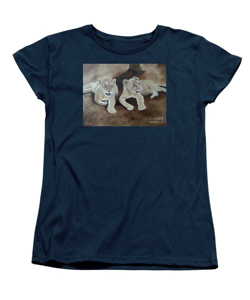 Young Lions Women's T-Shirt (Standard Cut) by Bev Conover