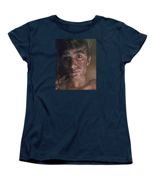 Young Sweep With His Pipe Women's T-Shirt (Standard Cut) by Cherise Foster