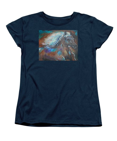 Women's T-Shirt (Standard Cut) featuring the painting Your Majesty by Leslie Allen