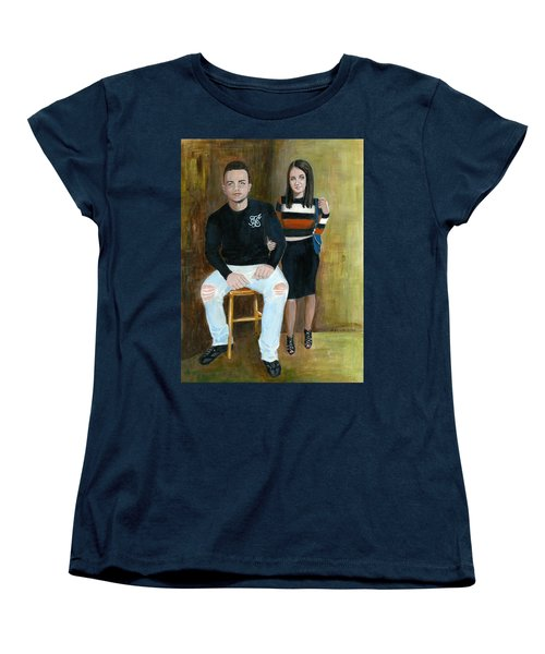Youth And Beauty - Painting Women's T-Shirt (Standard Cut) by Veronica Rickard