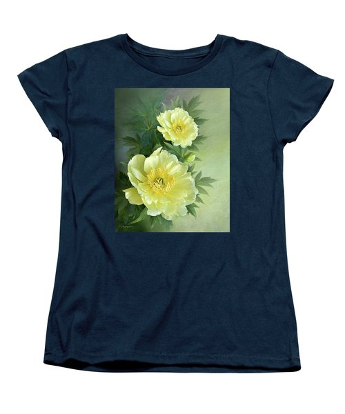 Women's T-Shirt (Standard Cut) featuring the digital art Yumi Itoh Peony by Thanh Thuy Nguyen