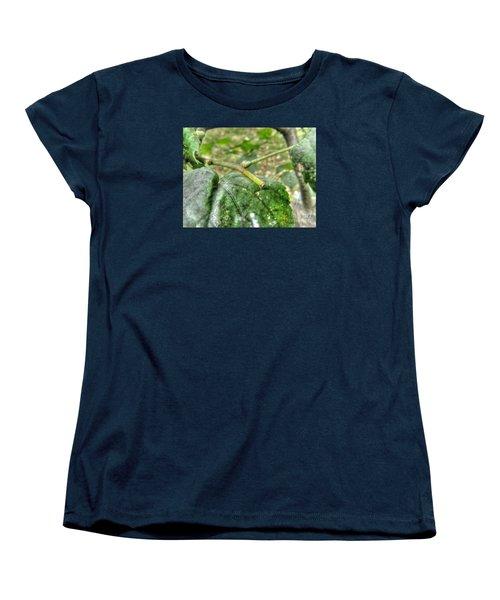 Women's T-Shirt (Standard Cut) featuring the pyrography Yury Bashkin Greeeenn by Yury Bashkin