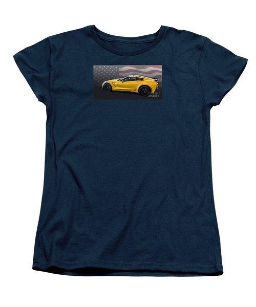 Z06 America Women's T-Shirt (Standard Cut) by Roger Lighterness