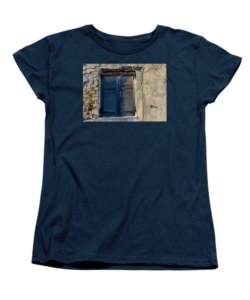 Zakynthos Town Window Women's T-Shirt (Standard Cut) by Rainer Kersten