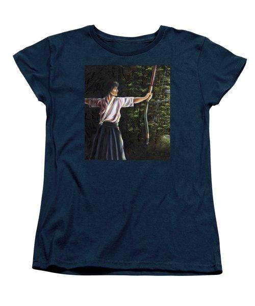 Women's T-Shirt (Standard Cut) featuring the painting Zanshin by Hiroko Sakai