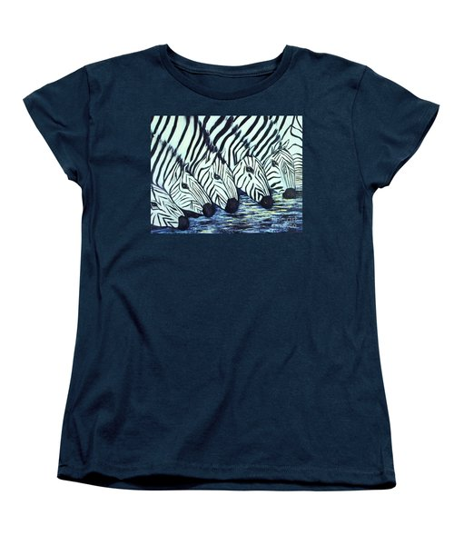 Zebra Line Women's T-Shirt (Standard Cut) by Donna Dixon