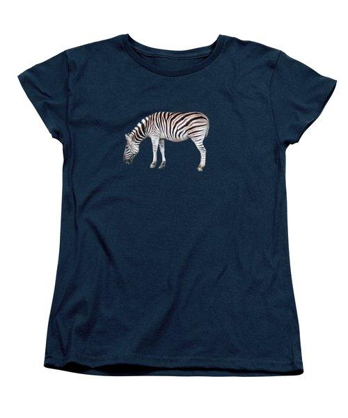 Zebra Women's T-Shirt (Standard Cut) by Pamela Walton