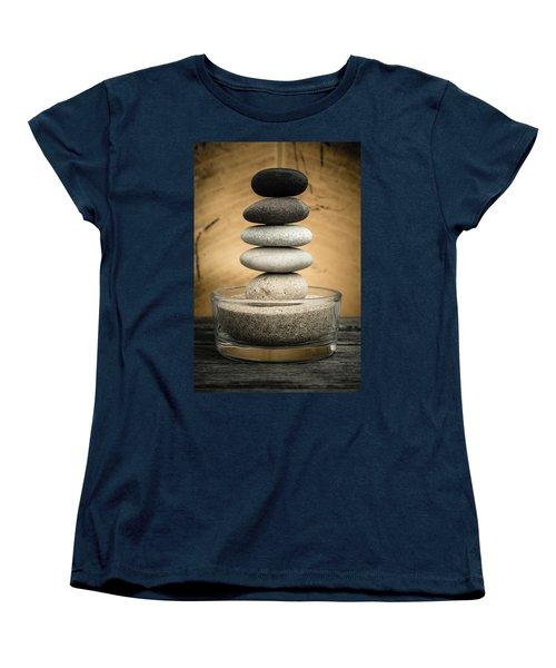 Zen Stones I Women's T-Shirt (Standard Cut) by Marco Oliveira