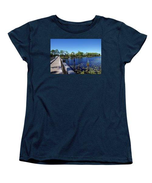 Bridge In Watercolor Women's T-Shirt (Standard Fit)