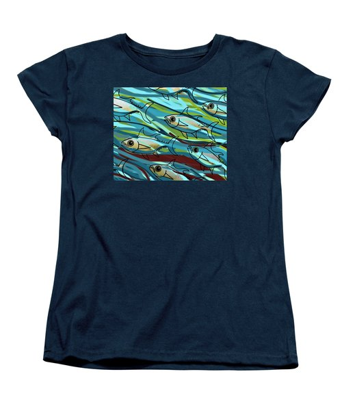F Is For Fish Women's T-Shirt (Standard Fit)