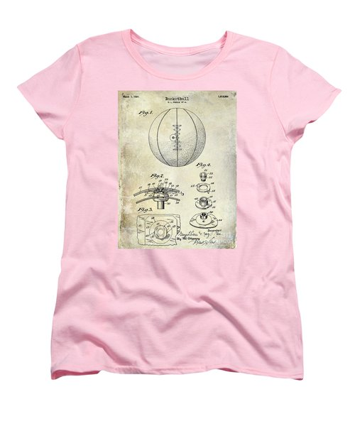 1927 Basketball Patent Drawing Women's T-Shirt (Standard Cut)