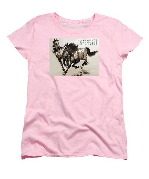 Companionship Women's T-Shirt (Standard Cut) by Yufeng Wang