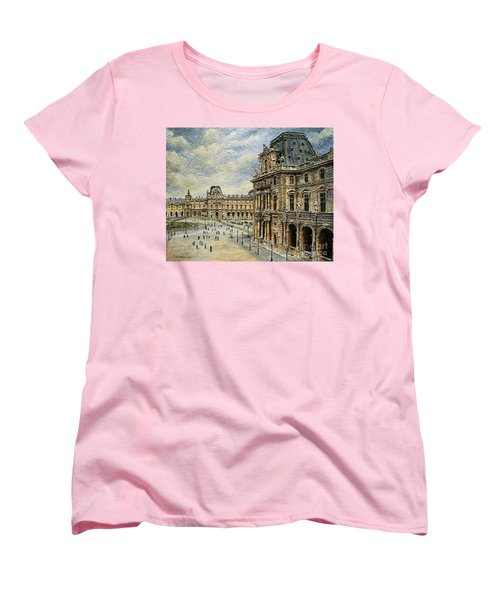 The Louvre Museum Women's T-Shirt (Standard Cut) by Joey Agbayani