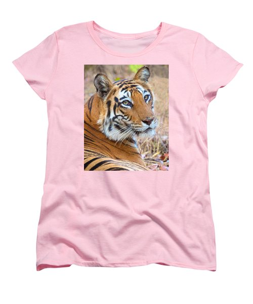 Bandhavgarh Tigeress Women's T-Shirt (Standard Cut) by David Beebe