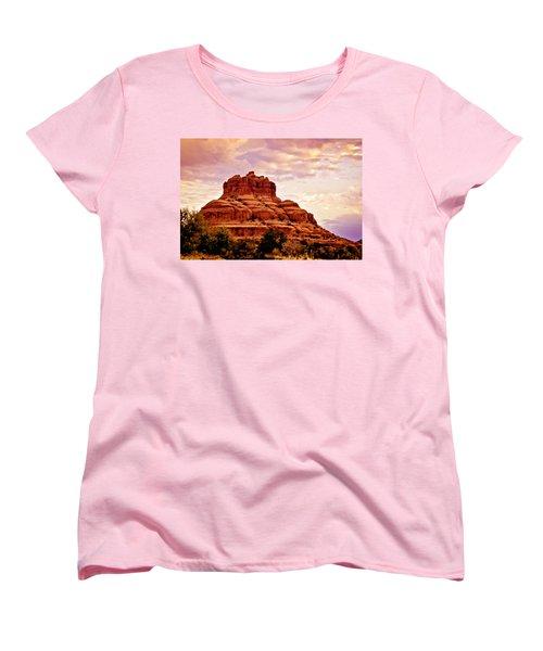 Bell Rock Vortex Painting Women's T-Shirt (Standard Cut) by Bob and Nadine Johnston
