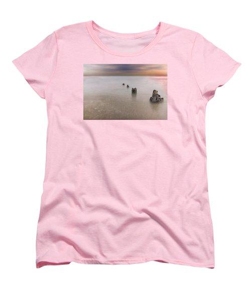 Breakwater Women's T-Shirt (Standard Cut) by Peter Lakomy