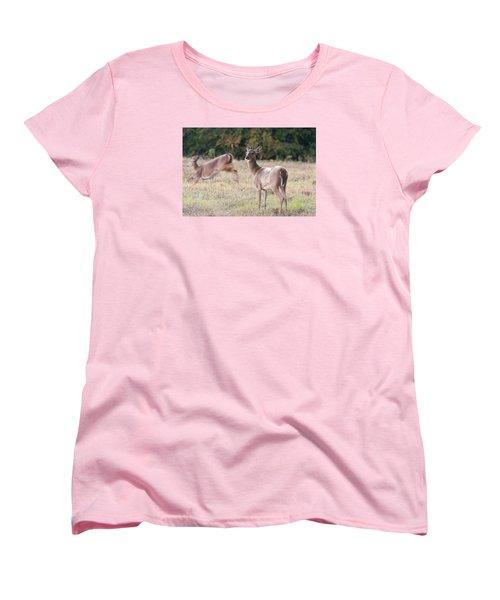Women's T-Shirt (Standard Cut) featuring the photograph Deer At Paynes Prairie by Paul Rebmann