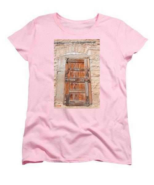 Women's T-Shirt (Standard Cut) featuring the photograph Door Series 1 by Minnie Lippiatt